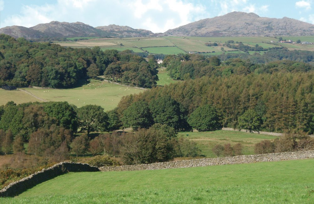 lake district cottage farm view